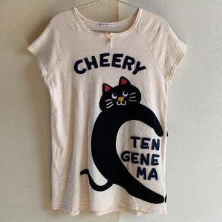 ラフ(rough)のrough 黒猫 アップリケTシャツ(Tシャツ(半袖/袖なし))
