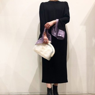 mame - mameレースカフスドレス