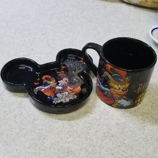 ディズニー(Disney)のディズニーマグカップ小さいお皿セット(食器)