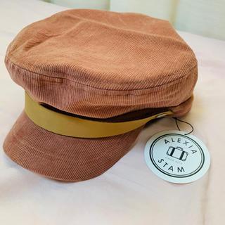 アリシアスタン(ALEXIA STAM)のアリシアスタン  帽子 ピンクベージュ コーデュロイ キャスケット(キャスケット)