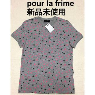 プーラフリーム(pour la frime)の【新品未使用】プーラフリーム 星柄Tシャツ(Tシャツ(半袖/袖なし))