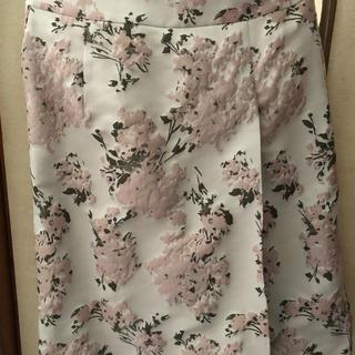 ハナエモリ(HANAE MORI)の森英恵 花柄スカート  M新品(ひざ丈スカート)