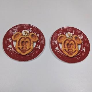 Disney - ディズニープレート ディズニーお皿 ワッフルプリント ミッキープレート