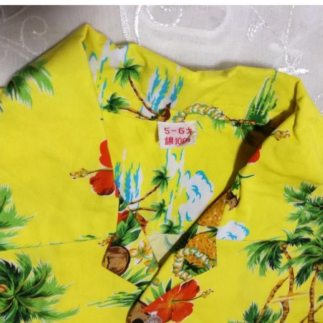komomi様 アロハ セットアップ 子供用 キッズ/ベビー/マタニティのキッズ服男の子用(90cm~)(甚平/浴衣)の商品写真