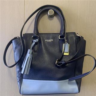 COACH - 美品 COACH 約6万 2WAYバイカラー本革バッグ