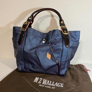 エムジーウォレス(MZ WALLACE)のMZ WALLAGE ビッグバッグ 紺シャイン(トートバッグ)