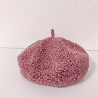 キャセリーニ(Casselini)のピンクサマーベレー帽❤︎(ハンチング/ベレー帽)