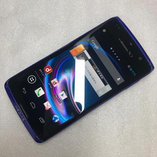 エヌイーシー(NEC)のドコモ MEDIAS X N-04E ブルー ジャンク aki321(スマートフォン本体)