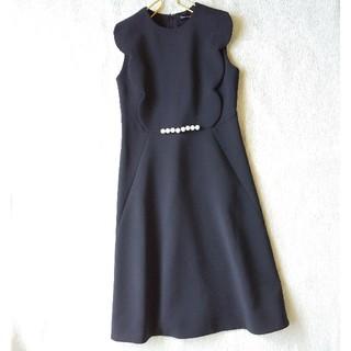 BARNEYS NEW YORK - ヨーコチャンyoko chanスカラップパールワンピース ドレス 黒38