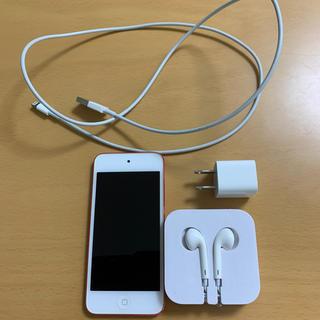 アイポッドタッチ(iPod touch)の《iPod touch》第5世代 64GBピンクモデル〜付属品(純正)付き〜(ポータブルプレーヤー)