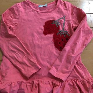 ハッカキッズ(hakka kids)のイチゴ長袖Tシャツ(Tシャツ/カットソー)