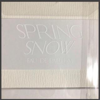 トゥモローランド(TOMORROWLAND)のtobali  spring snow トバリ 香水 フミカウチダ(香水(女性用))