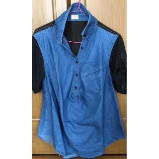 アゲインスト(AGAINST)のagainst バイカラーシャツ(Tシャツ(半袖/袖なし))