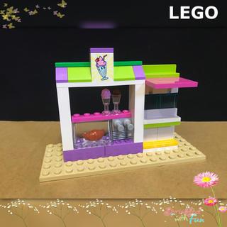 Lego - LEGO レゴフレンズ アイスクリーム屋さん フードコート 基礎プレート付き