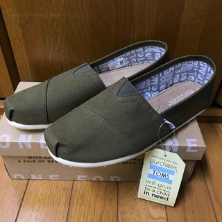 トムズ(TOMS)の新品未使用・トムズ・スリッポン・カーキ・27cm(スリッポン/モカシン)