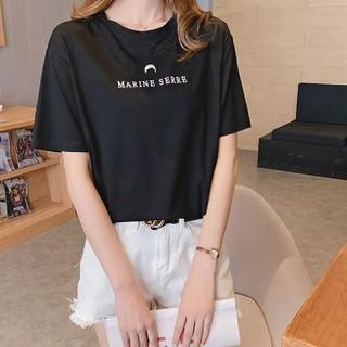 MARINE SERRE Tシャツ ブラック ノベルティー 当日発送
