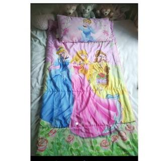ディズニー(Disney)のディズニープリンセス 寝袋 子供用布団 マクラ(シーツ/カバー)