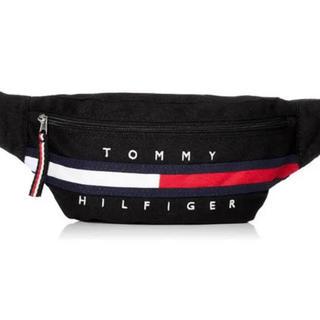 トミーヒルフィガー(TOMMY HILFIGER)のTOMMY HILFIGER ウエストポーチブラック 黒 新品未使用品 (ボディバッグ/ウエストポーチ)
