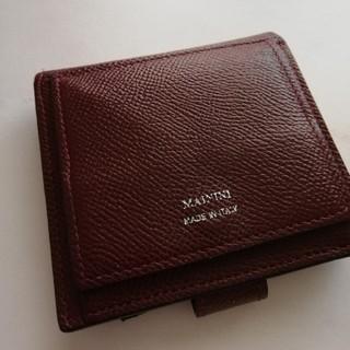 ユナイテッドアローズ(UNITED ARROWS)のMANINI★ワインレッド折りたたみ財布(財布)