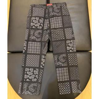 シュプリーム(Supreme)のSupreme Paisley Grid Chino Pant Black M(チノパン)