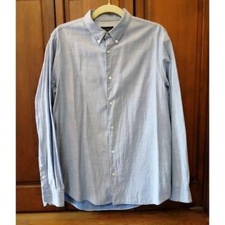 アーペーセー(A.P.C)の美品!A.P.C  サックスブルー シャツ 長袖 コットン100% ブルー(シャツ)