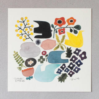 イデー(IDEE)のバーズワーズ ポスター [BIRDS AND FLOWERS] (その他)