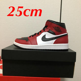 "ナイキ(NIKE)のNIKE AIR JORDAN 1 MID ""CHICAGO BLACK TOE(スニーカー)"