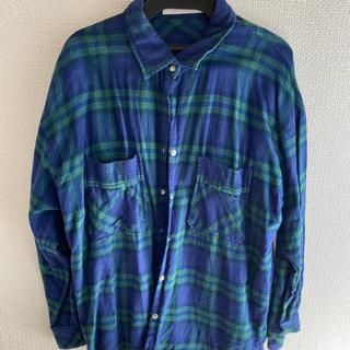 トランテアンソンドゥモード(31 Sons de mode)のトランテアン オーバーサイズチェックシャツ グリーン 緑(シャツ/ブラウス(長袖/七分))