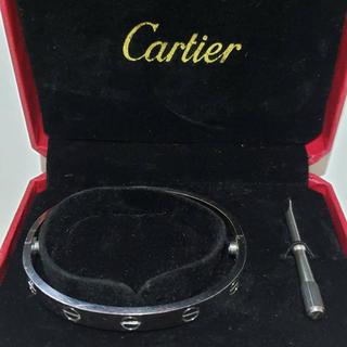 カルティエ(Cartier)のカルティエ ラブブレス ブレスレット 韓国限定 K18ホワイトゴールド(ブレスレット)