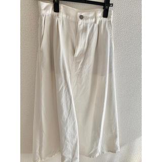 GU デニムスカート  Sサイズ ホワイト オフホワイト(ロングスカート)