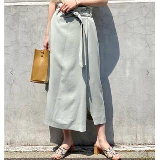 ノーブル(Noble)のノーブル 新品 オーバータックフロントスリットスカート(ロングスカート)
