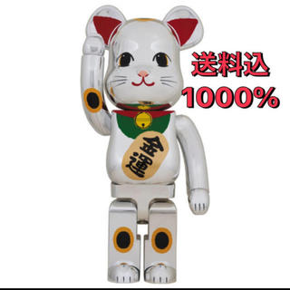 BE@RBRICK 招き猫 銀メッキ 弐 1000%(その他)