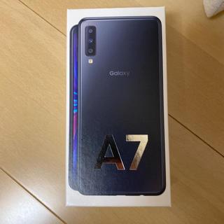 ギャラクシー(Galaxy)の未開封 新品 未使用 Galaxy A7 ブラック 64 GB その他(スマートフォン本体)