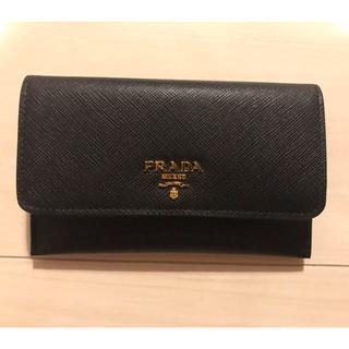 プラダ(PRADA)のPRADA プラダ カードケース ブラック 1MC004(折り財布)