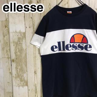 エレッセ(ellesse)のellesse エレッセ Tシャツ ビッグロゴ ネームタグ バイカラー(Tシャツ/カットソー(半袖/袖なし))