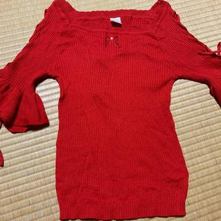 シークレットハニー(Secret Honey)のシークレットハニー  赤 トップス(カットソー(半袖/袖なし))