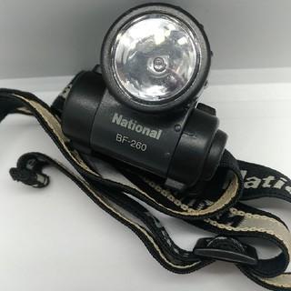 パナソニック(Panasonic)のNationalリチウムマイクロヘッドランプBF-260 中古(ライト/ランタン)