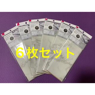 リメイクシート 大理石柄 ホワイト 6枚セット ダイソー(型紙/パターン)