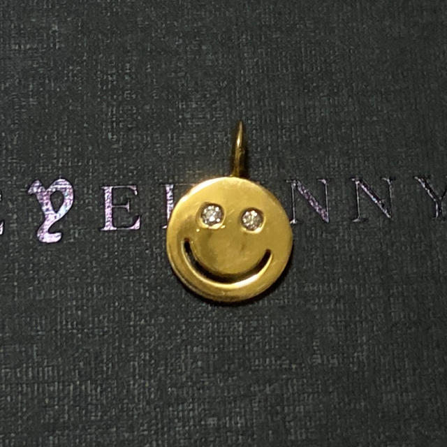 EYEFUNNY(アイファニー)のアイファニー 18k ダイヤモンド スマイル M ホワイトアイズ ニコちゃん メンズのアクセサリー(ネックレス)の商品写真