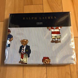 ラルフローレン(Ralph Lauren)の値下げしました!ラルフローレンポロベア フィッティドシーツ シングルサイズ(シーツ/カバー)