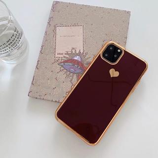 【レッド】キャンディーカラー ハート iPhoneケース(iPhoneケース)