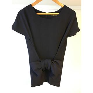 クリア(clear)のclear リボン付きトップス(シャツ/ブラウス(半袖/袖なし))