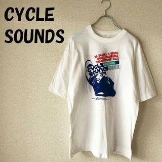 【人気】CYCLE SOUNDS 88年 鈴鹿8耐 プリント Tシャツ サイズL(Tシャツ/カットソー(半袖/袖なし))