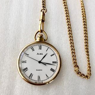 アルバ(ALBA)のALBA クォーツ式懐中時計 電池あり(腕時計(アナログ))