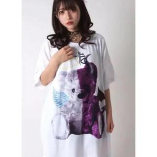 ミルクボーイ(MILKBOY)のTRAVAS TOKYO   天使と悪魔 くま ビッグ Tシャツ ホワイト新品(Tシャツ/カットソー(半袖/袖なし))