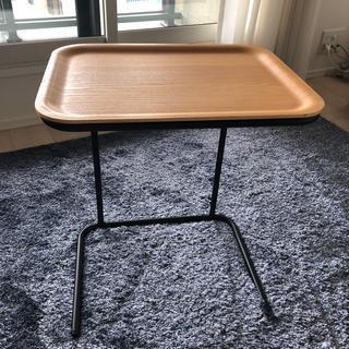 ムジルシリョウヒン(MUJI (無印良品))の無印良品 スチールトレースタンド サイドテーブル オーク ソファ ベッドサイド(コーヒーテーブル/サイドテーブル)
