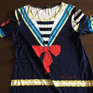 レオナール(LEONARD)のレオナール セーラー マキシ ロング Tシャツ ワンピース マリン(ロングワンピース/マキシワンピース)