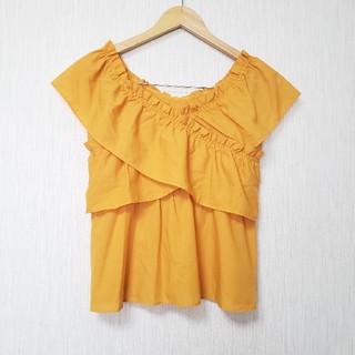 エージーバイアクアガール(AG by aquagirl)のオレンジ ブラウス (シャツ/ブラウス(半袖/袖なし))