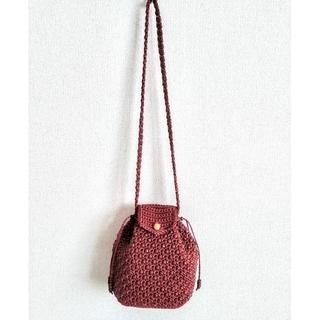 【リュックのようなコロンと可愛い】ショルダーバッグ マクラメ編み (ショルダーバッグ)
