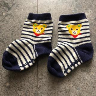 ミキハウス(mikihouse)のミキハウス 靴下 11-13センチ クマ(靴下/タイツ)